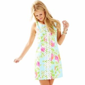 Lilly Pulitzer Pink Lemonade Cathy Shift Dress 8